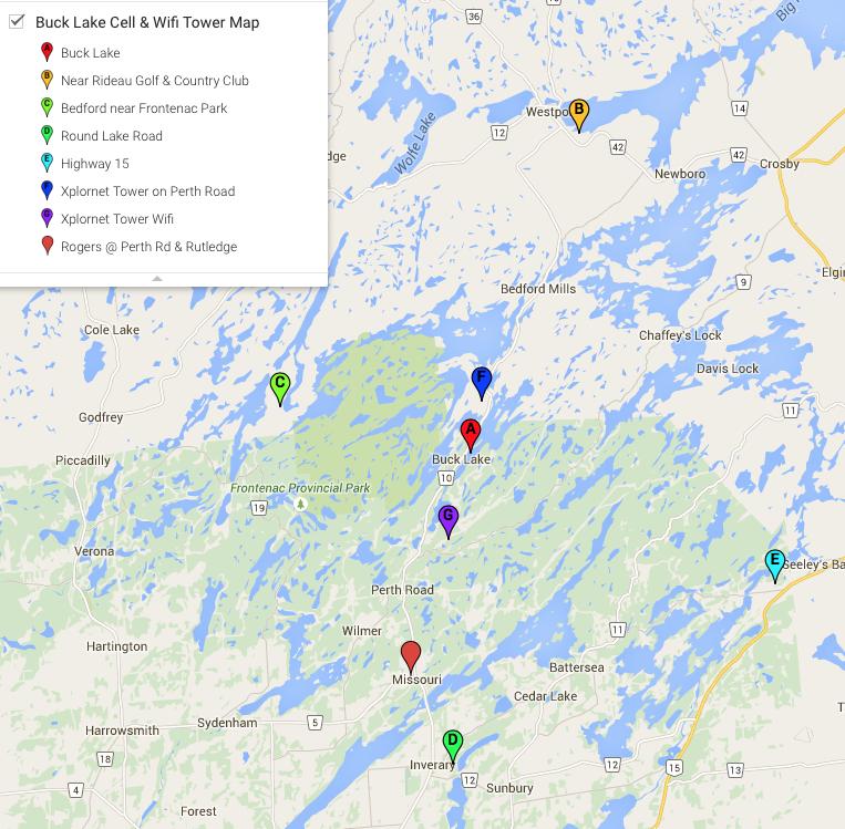 Maps Buck Lake Association