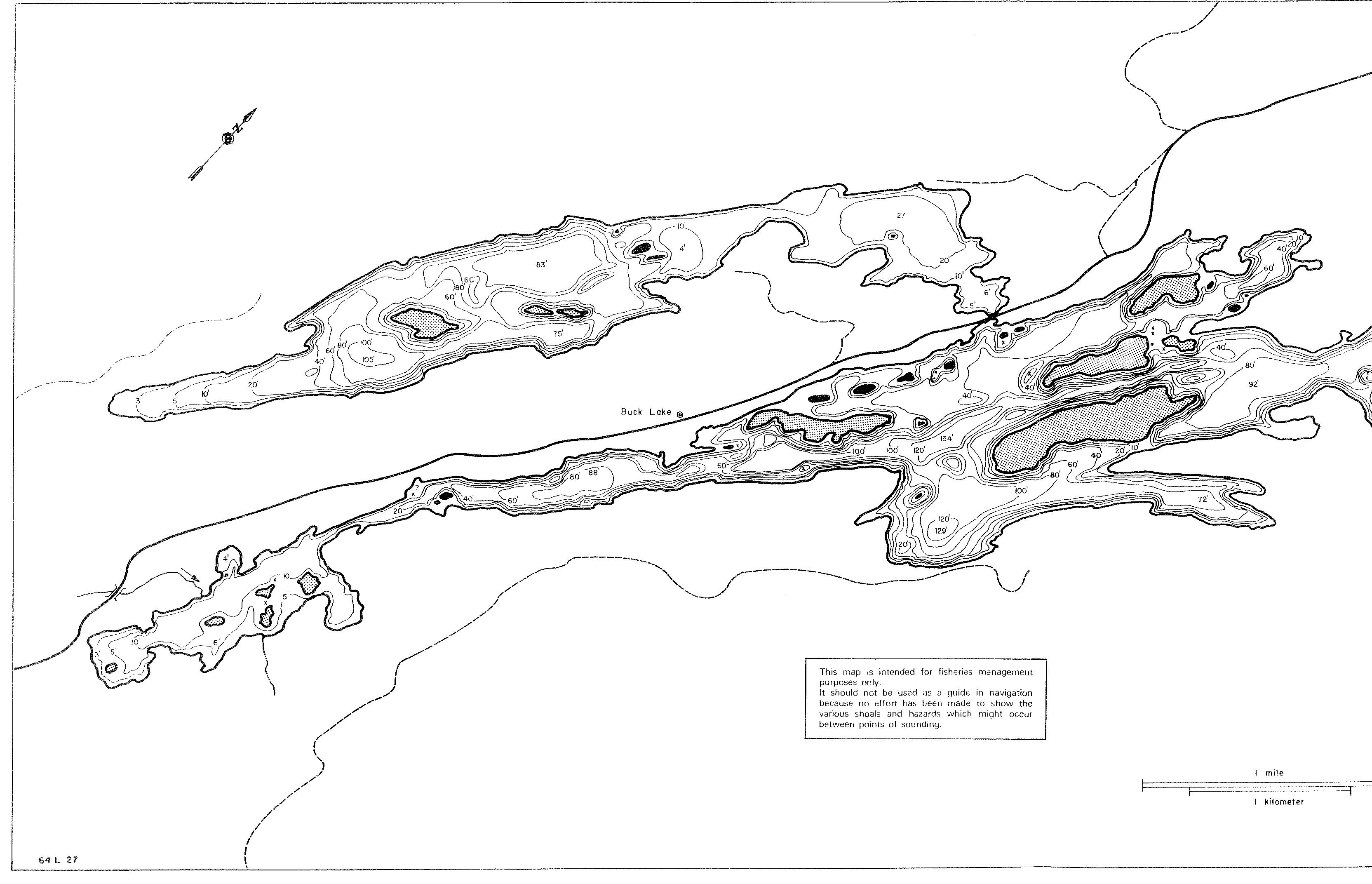 Maps Buck Lake Association - Ontario fishing lakes maps